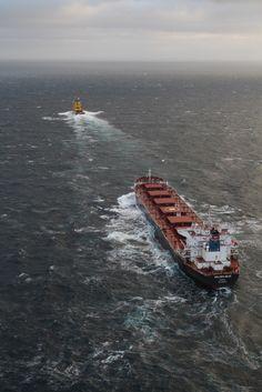 Sea Story – 'Tor Viking II' Rescues Disabled Cargo Ship 'Golden Seas' from Bering Sea - U.S. Coast Guard Photo