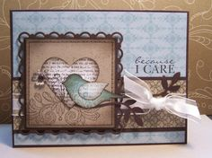 Stamps: Punch Potpourri, Because I Care, Style Beautiful  Ink: Early Espresso (pad & marker), Baja Breeze  Cardstock: Early Espresso, Crumb Cake, Whisper White  DSP: Subtles Collection & Elegant Soiree  Also: Paper Daisies & Vintage Trinkets (love 'em both)