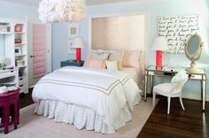 pintrest simple light blue girl rooms | ... girls nightstands, girls paint colors, pink and blue girls bedrooms