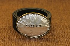 Womens Belt buckle   Texas Girl by ShaggySugar on Etsy, $30.00