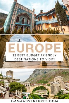 22 of the best budget destinations in Europe! The ultimate guide to europe on a budget! Visit these cities in Europe on a budget. Budget travel in Europe, cheap places in Europe, Europe travel on a budget.