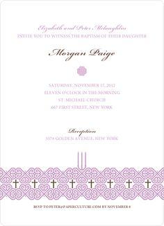 Elegant Candle Baptism Invitation