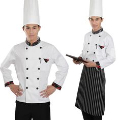 It is very important to chose the attractive and impressive professional attire for the chef of your restaurant.The complete chef uniform include jacket,Aprons,Trousers,Hats,Cravat and Footwear.