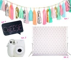 create your own photobooth with colorful props!
