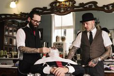 I would hang out at this barber shop all day...