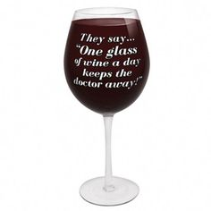 Worlds Largest Wine Glass is biggest wine glass on the market enough to hold the contents of 3 full bottles of wine. Perfect novelty wine glass gift for all wine lovers. One Glass Of Wine, Large Wine Glass, Wine Glass Rack, Wine Case, Wine Wednesday, Wine Quotes, Wine Fridge, Wine Refrigerator, Wine And Beer