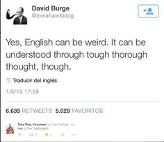 For all you lovers of English out there.
