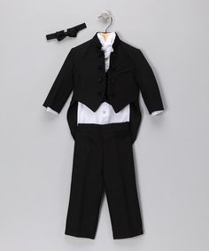 Take a look at this Black Mandarin Five-Piece Set - Infant, Toddler & Boys by Lida on #zulily today!
