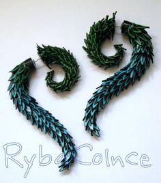 Fake ear gauge  Faux gauge/Gauge earrings/ plug/ by RybaColnce, $30.00