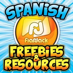 $ FlapJack Educational Resources: Spanish resources and Spanish freebies. Lots of resources for Spanish teachers. #Learning Spanish #Teaching Spanish #Spanish for kids