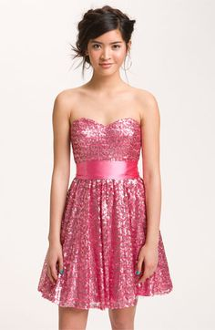Way-In Sequined Party Dress (Juniors) available at Nordstrom