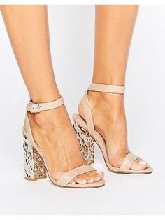 3d93511c1f9a Asos HAZARD Heeled Sandals Asos Shoes
