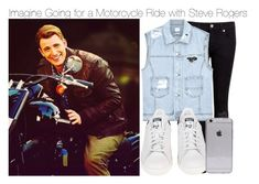 """""""Imagine Going for a Motorcycle Ride with Steve Rogers"""" by xdr-bieberx ❤ liked on Polyvore featuring Ted Baker, SJYP, adidas and request"""