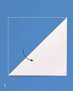 How to fold for a paper snow flake