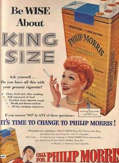 Philip Morris King Size Cigarettes – Lucille Ball (1953)