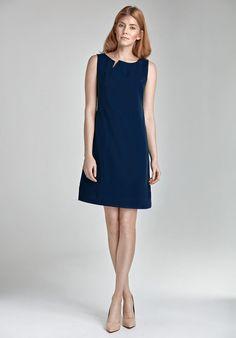 b4348686d52 Robe courte femme bleu chic elegante sans manches mode ete NIFE S23
