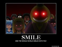 Crunchyroll - Forum - Anime Motivational Posters (READ FIRST POST) - Page 14781 You are in the right place about Memes funny Here we offer you the most beautiful pictures about the disney Memes you ar Anime Motivational Posters, Motivational Pictures, Motivational Sayings, Assassination Classroom Funny, Cool Animes, Manga Anime, Anime Art, Classroom Memes, Koro Sensei