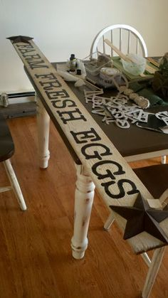 Trace around chipboard letters to make signs like this, so clever!