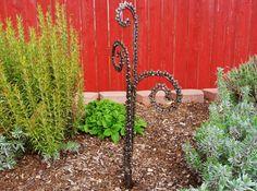 Furled Fron Fern steel garden art. by Sistersteel on Etsy, $62.00