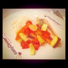 Pescado al horno con Limón y Verduras