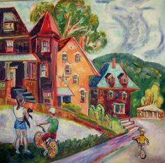 Last Day of Summer, Strathglas, Rumford, Maine, Diana Young, 2006, 40 x 40 inches, oil on canvas, $3280 Rumford Maine, Last Day Of Summer, Oil On Canvas, Diana, Artists, Painting, Painted Canvas, Painting Art, Paintings