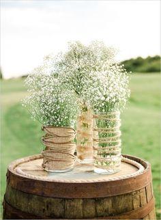 Rustically romantic wedding. #weddingchicks Captured By: L. Martin Wedding Photography http://www.weddingchicks.com/2014/09/15/rustically-romantic-wedding/ #Floral Decor For Aisle Perfect Weddings!