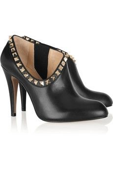 Valentino | Studded leather ankle boots | NET-A-PORTER.COM - StyleSays