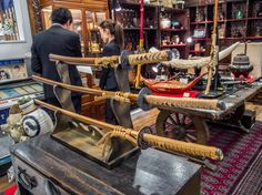 "Asakusa ROX 3G 8/11 For those looking for cutlery that is less, ahem, practical, there is also the antique shop ""Koraido"". #ROX, #3G, #Koraido, #antiques April 1, 2015 © Grigoris A. Miliaresis"