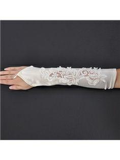 Charming Fingerless Lace Pattern Wedding Bridal Glove