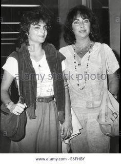 Actress Elizabeth Taylor And Daughter Liza Todd Stock Photo