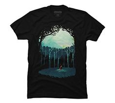 Deep in the forest Men's Small Black Graphic T Shirt - Design By Humans *Click image to check it out* (affiliate link)