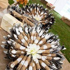 country wedding silverware wraps https://www.facebook.com/CamoCountryGirlClub/photos/a.260990477383710.1073741828.260709927411765/326352130847544/