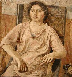 Antonio López García - Josefina in the Rocking Chair / Josefina en la mecedora, 1954, óleo sobre lienzo, 75 x 71 cm | Galería Marlborough Madrid y Barcelona