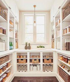 Layout Design, Küchen Design, Interior Design, Design Ideas, Modern Interior, Home Organisation, Organizing Ideas, Pantry Organization, Organized Kitchen