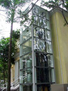 Elevador panorâmico residencial externo