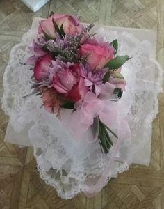 Rose Heart Casket Pillow