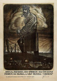 Plakat patriotyczny Józef Piłsudski Piorun Grom (5814376623) - Allegro.pl - Więcej niż aukcje.