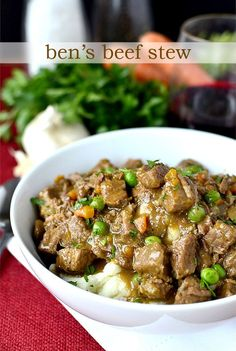 Ben's Beef Stew. My husband's awesome beef stew recipe! #dinner #winter #recipe | iowagirleats.com