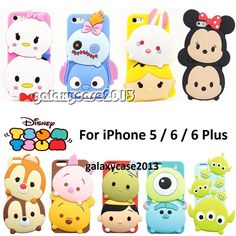 3D Cute Disney Soft Silicone Rubber Full Back Case For iPhone 5 / 5S / 6 / Plus #UnbrandedGeneric