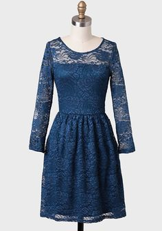 Curtsy Lace Dress In Teal