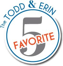 Have you entered?  Win a $100.00 Walmart gift card from The Todd & Erin Favorite Five!