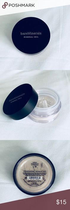 💵2 for $20/BAREMINERALS Illuminating Mineral Veil BAREMINERALS Illuminating Mineral Veil. New, never used (see close-up of intact safety guard). Bundle with other BAREMINERALS product for greater savings! bareMinerals Makeup