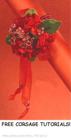 Homecoming Corsages - check this site for DIY corsage supplies and free step by step tutorials