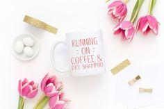 Running on Coffee and Dry Shampoo Funny by AssimilationDesigns