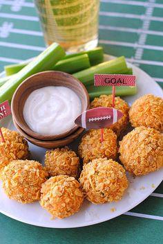 Perfect healthier football food to serve - Skinny Buffalo Chicken Bites