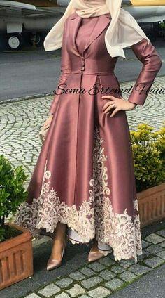 Abayas - Another! Hijab Evening Dress, Hijab Dress Party, Evening Dresses, Prom Dresses, Abaya Fashion, Muslim Fashion, Modest Fashion, Fashion Dresses, Estilo Abaya