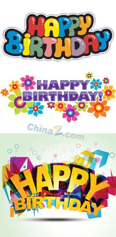Happy birthday fonts design vector graph | Vector appliances