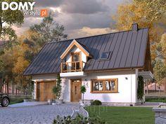 Bielik projekt domu - Jesteśmy AUTOREM - DOMY w Stylu Home Fashion, Sliders, House Plans, Cabin, Mansions, House Styles, Home Decor, Dreams, The World