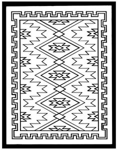 american southwest coloring pages Pattern Coloring Pages, Colouring Pages, Adult Coloring Pages, Kids Colouring, Native American Symbols, Native American Design, Native American Rugs, Diy Coloring Books, Navajo Weaving