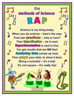 """Help kids learn the steps in one approach to a scientific method with this """"Methods of Science RAP."""""""